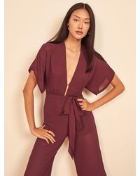 Reformation Lemongrass Jumpsuit - Red