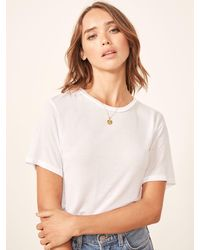 Reformation Joplin Relaxed Tee - White