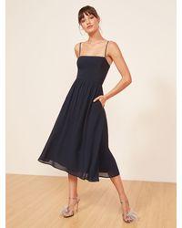 Reformation Rosehip Dress - Blue