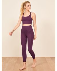 Reformation Girlfriend Collective Hi Rise Full Length Pant - Purple