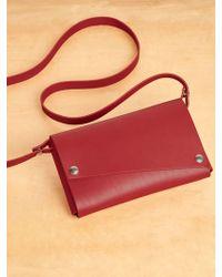 Reformation Lemur Clutch Fold Purse - Red