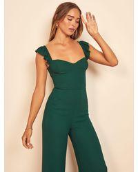 Reformation Tangelo Jumpsuit - Green