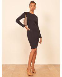 Reformation Wednesday Dress - Black