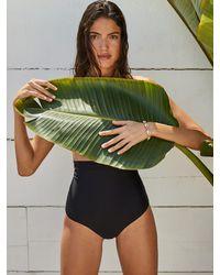 Reformation Havana Ultra High Rise Bikini Bottom - Black
