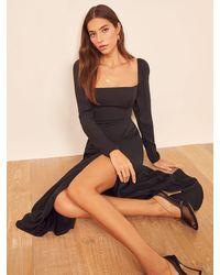 Reformation Petites Sigmund Dress - Black