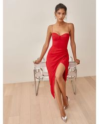 Reformation Kourtney Dress - Red