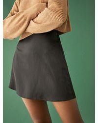 Reformation Petites Benson Skirt - Black