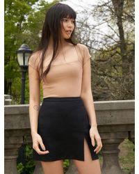 Reformation Baker Linen Skirt - Black