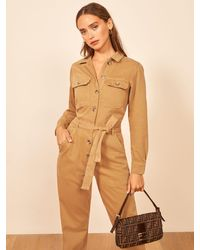 Reformation Kendall Boiler Suit - Natural