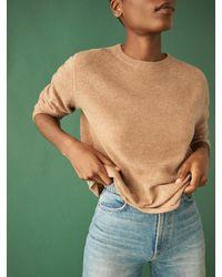 Reformation Cashmere Boyfriend Sweater - Green