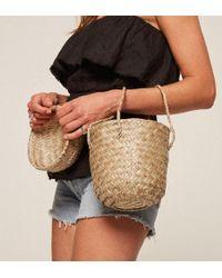 Reformation Doen Phoebe Moroccan Basket Bag - Natural
