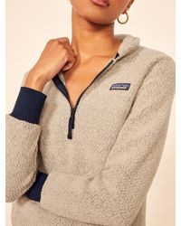 Reformation Patagonia Woolyester Fleece Pullover - Natural