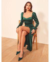 Reformation Rey Dress - Green