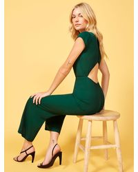 Reformation Petites Mayer Jumpsuit - Green