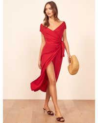 Reformation Sage Dress - Red