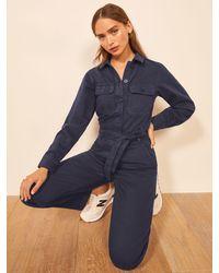 Reformation Kendall Boiler Suit - Blue