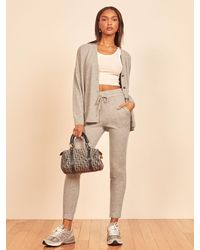 Reformation Cashmere Sweatpant - Gray