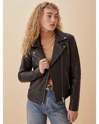 Reformation Veda Bad Leather Jacket - Black