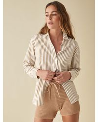 Reformation Parker Relaxed Shirt - Natural