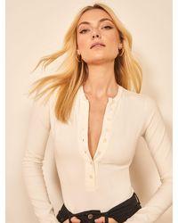 Reformation Nisa Bodysuit - White