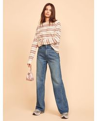 Reformation Hailey Trouser Jean - Blue
