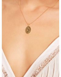 Reformation Oval Charm Necklace - Metallic
