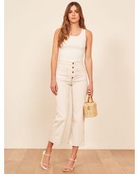 Reformation Eloise High Rise Wide Leg Jeans - White