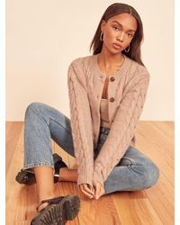 Reformation Lemartine Cable Knit Cardigan - Multicolor