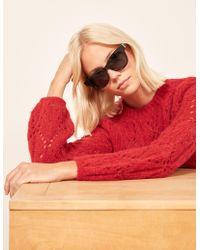 Reformation - Nina Sunglasses - Lyst