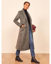 Reformation York Coat - Black