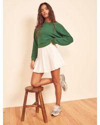 Reformation Bexley Linen Skirt - White