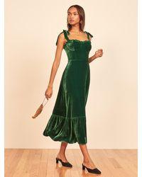 Reformation Antoinette Dress - Green