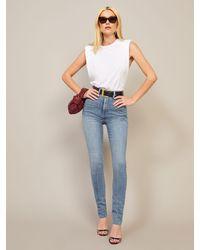 Reformation Harper Ultra High Rise Skinny Jeans - Blue