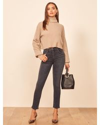Reformation Harper High Rise Skinny Cropped Jeans - Multicolour