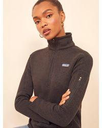 Reformation Patagonia Better Sweater 1/4 Zip Fleece - Black