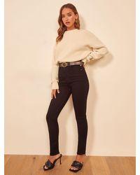 Reformation Harper Ultra High Rise Skinny Jeans - Black