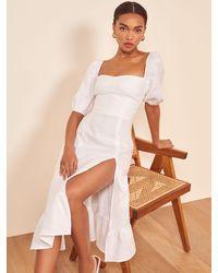 Reformation Belgium Linen Dress - White