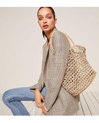 Reformation - Abaca Marina Basket Tote - Lyst