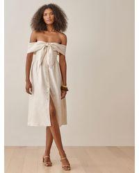 Reformation Barrington Linen Dress - Natural