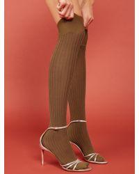 Reformation Swedish Stockings Ella Rib Over Knee - Multicolor