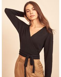 Reformation Relaxed Cashmere Wrap - Black