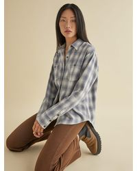 Reformation Harper Relaxed Flannel - Gray