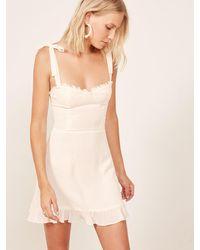 Reformation Petites Christine Dress - White