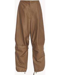 The Row Kye Pant In Nubuck - Brown