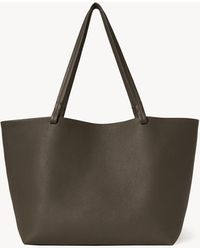 The Row Park Tote In Leather - Multicolor
