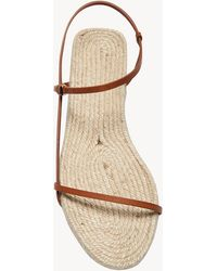 The Row Bare Sandal Espadrille In Leather - Natural