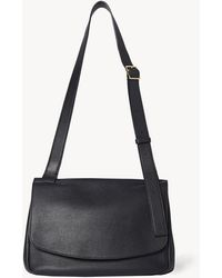 The Row Small Mail Bag In Leather - Black