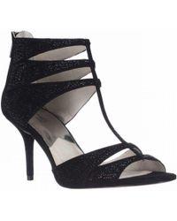 Michael Kors - Michael Mavis T-strap Dress Sandals - Black Suede - Lyst