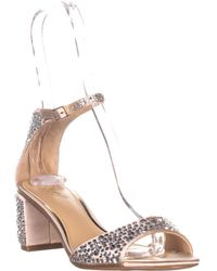 Badgley Mischka - Jewel Jet Ankle Strap Dress Sandals - Lyst