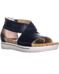Adrienne Vittadini - Claud Flat Comfrot Sandals, Navy - Lyst